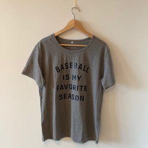 BASEBALL IS MY FAVORITE SEASON novelty t-shirt